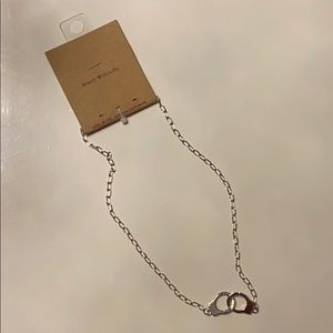 Brandy Melville Silver Handcuff Necklace